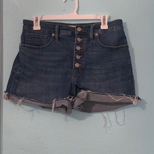 Madewell high rise shorts
